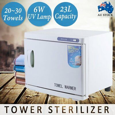23L Towel Warmer UV Sterilizer Cabinet Heater Salon Disinfection Facial BG
