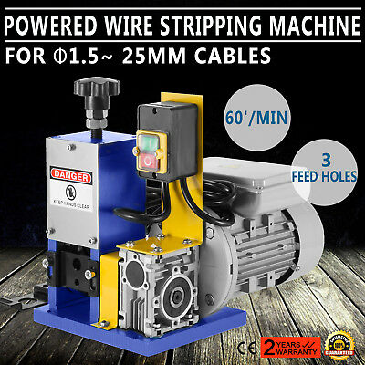 220V Powered Electric     Wire Stripping Machine Peeling Peeler Scrap UPDATED