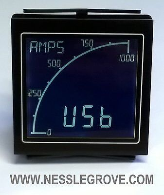 Trumeter APM-AMP-ANO APM Ammeter Negative LCD with relay output.