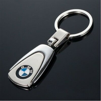 BMW Metal Chrome Embossed Stainless Steel Keyring Keyring Keychain