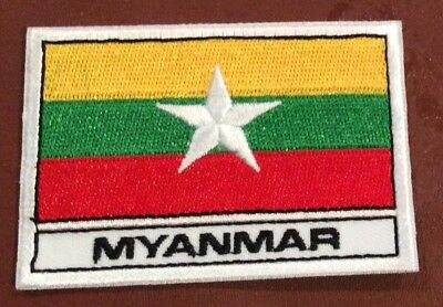 MYANMAR IRON ON FLAG PATCH BUY 2 We Send Three Of These