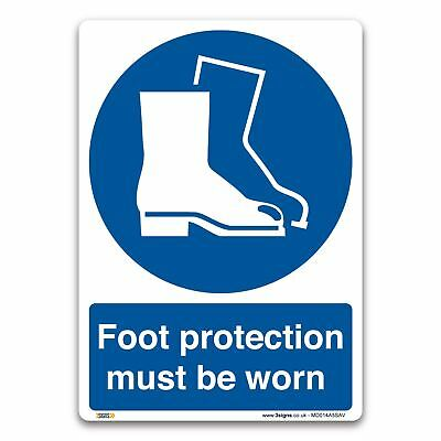 Foot protection must be worn Sign - Vinyl - Mandatory Safety Clothing PPE