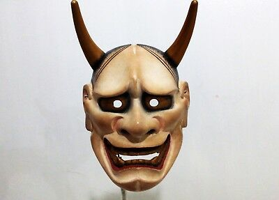 Japanese Chaos Traditional Theater Noh mask Hannya Demon Mask Wood