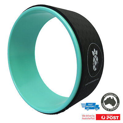 Yoga Wheel | High Quality Item with Training Booklet | Green Wheel + Black Mat