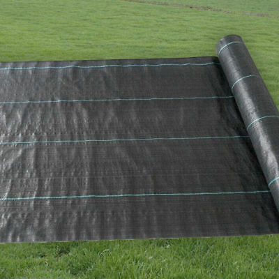100gsm Weed Control Fabric Ground Cover Sheet Landscape Garden Membrane Mulch UV