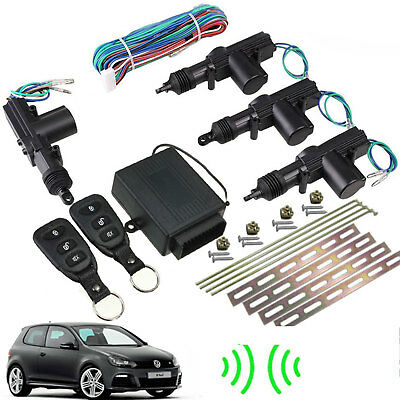 Car 2 Remote Central Keyless Locking Kit Vehicle System DT Universal Blac