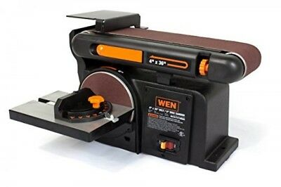 WEN 6502 4 x 36Inch Belt and 6Inch Disc Sander with Cast Iron Base