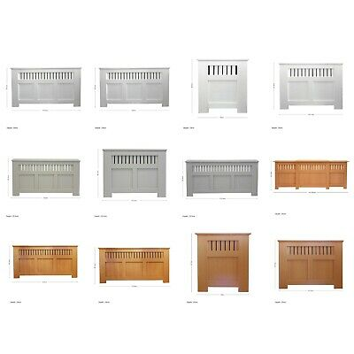 Oak/Maple Effect Grey/Green/White Painted Modern MDF Wood Radiator Cover Cabinet