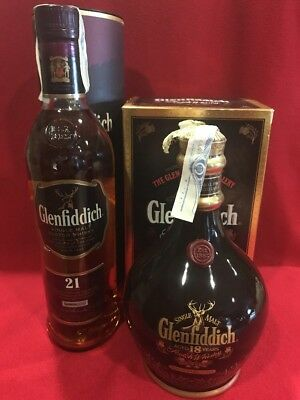 1+1 Whisky Glenfiddich 21 Years + 18 Years Ancient Reserve Black Decanter