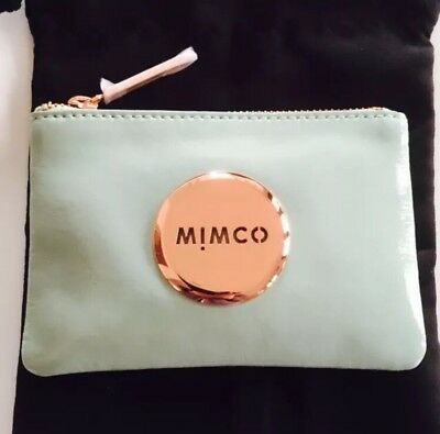 Mimco Pistachio Small Pouch Wallet Rose Gold RRP$69.95 Express Delivery!