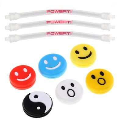 9 Pieces Silicone Tennis Racquet Vibration Dampener Shock Absorber Dampers