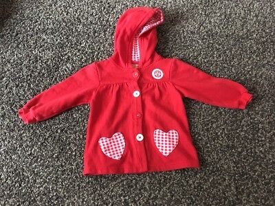 9-12 Month Girls Manchester United Hooded Cardigan
