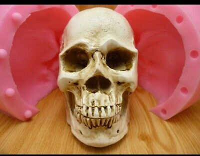Large Silicone Fondant Mould Skull Halloween Chocolate Cake Decoration