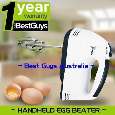 Electric Hand Mixer 7 Speed Whisk Egg Beater Cake Bread Mixing Baking AU Plug
