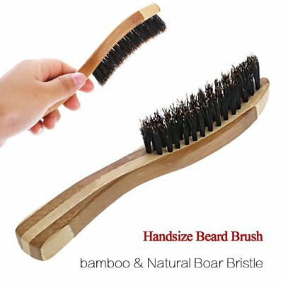 Beard Shaving Brush Long Bamboo Handle Boar Bristles Men Facial Massage Cleaning