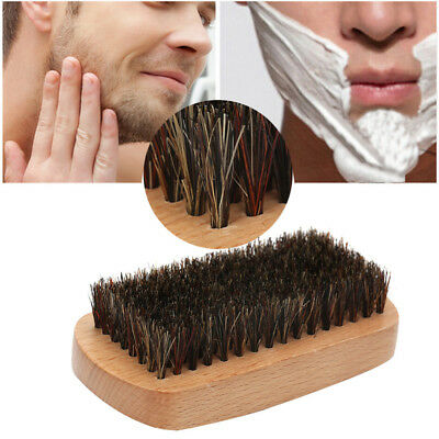 Beard Brush Wood Natural Boar Bristle Hair Facial Cleaning Men's Shaving Barber