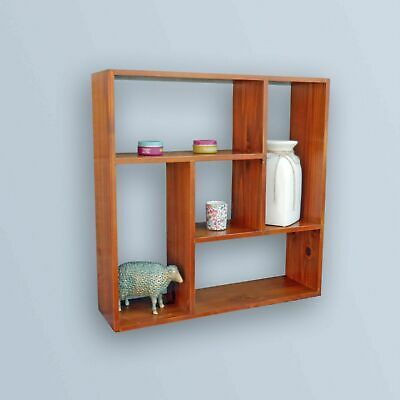 White Black Beech Wall Mount Storage Shelf Shelves Bookcase Display Storage Cube