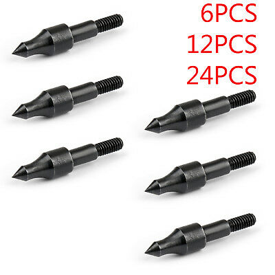 100Grain Archery Arrow Field Points Screw On Target Practice Tips Broadheads