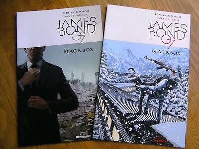 DYNAMITE James Bond 007 Black Box graphic comics lot #4-5 2017 NEW Percy Fleming