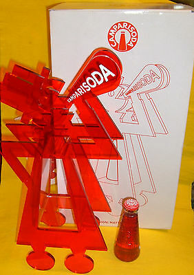 CAMPARI SODA Espositore 80anni Bottiglia Depero LimitEdBOX ADVERTISING PLEXIGLAS