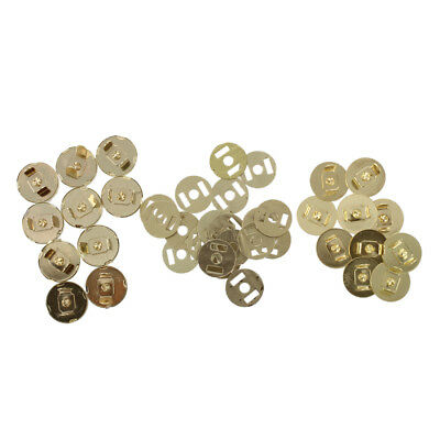 10 pcs Magnetic Snap Fasteners Buttons for Handbag Bags 18x14mm Q8T4 R2J2