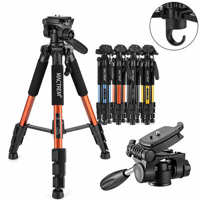 "55"" Aluminum PT55 Compact Camera Travel Tripod +360 Pan/Tilt Head +Bag Load:5KG"