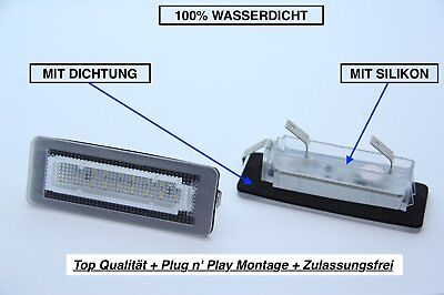 2x TOP LED SMD Kennzeichenbeleuchtung Smart Fortwo Coupe W451 + Brabus