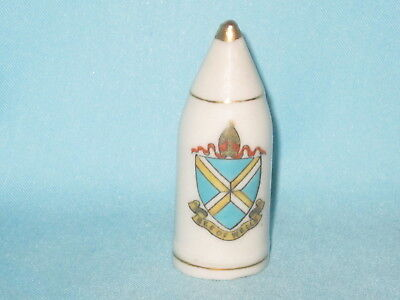 Arcadian China WW1 Artillery Shell - SEE OF WELLS crest