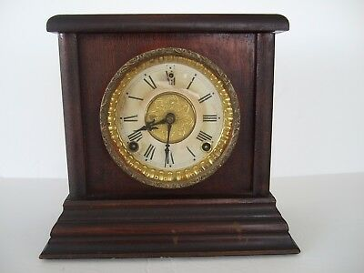 Antique Sessions 8-Day Mantle Clock Original Brass Works with Strike
