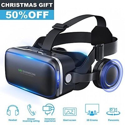 e65fba002424 Pansonite 3D VR Headset Virtual Reality Glasses 360 Panoramic with Builtin