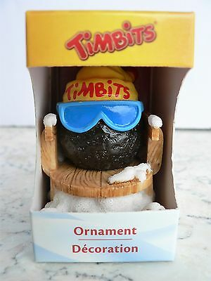 "Tim Hortons ""TIMBIT ON A TOBOGGAN"" Christmas Ornament 2012 Sled Coffee"