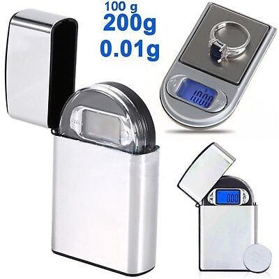 Portable Digital Pocket Scale 0.01g-100g/200g Mini Jewellery Gram Weighing