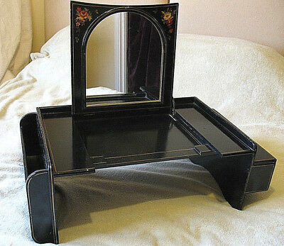 Rare Antique Victorian Dressing Table Mirror Folding