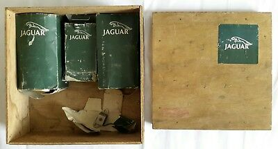 Vintage Jaguar Wooden Box/Storage Crate + Jaguar 2nd Hand ING Coils & Brake Pads