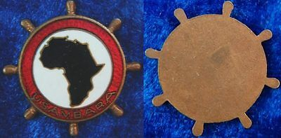 """Colonies Pin """" Ussukuma """" AFRICA Map Black Enamelled in Red Rim Pieces"""