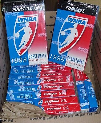 Lot of 12 Sealed Boxes 1998 WNBA Pinnacle Basketball Cards/240 Total Packs/NEW