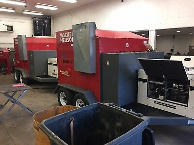 2011 WACKER E3000 Hydronic ground heater Multiquip Generator 7kw