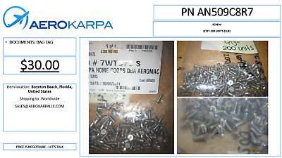 SCREW  Part Number AN509C8R7
