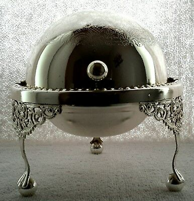 Silverplate Roll Top Dome Ashtray
