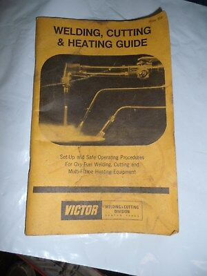 1977 VICTOR Cutting Heating and Welding Guide Manual Instructions Safety 1977