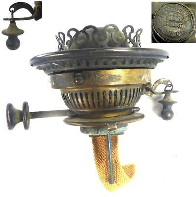 ANTIQUE VICTORIAN BRASS BENETFINK LONDON HINKS PATENT BURNER FOR OIL LAMP c