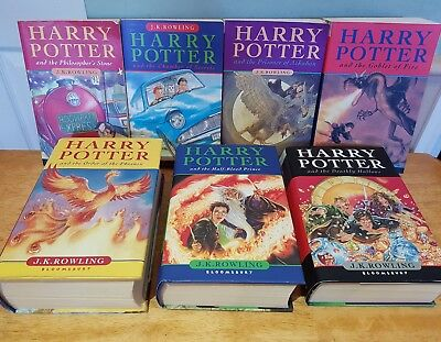 Full set of Harry Potter books all 1st editions  hardbacks great condition.