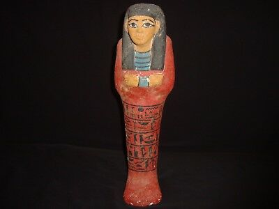 Rare Antique Ancient Egyptian Wooden Ushabti Shabti 300-350 BC