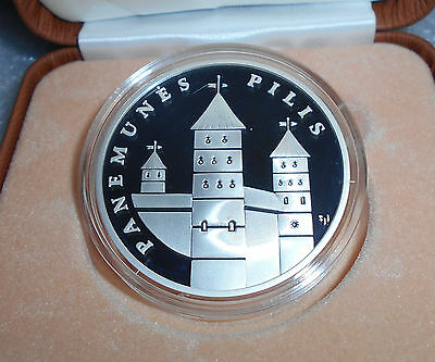 Silver 50 Litu Lithuania Proof Coin Dedicated to Panemune castle 2007