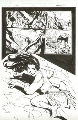 Humberto Ramos Mary Jane Watson Spider-Man original comic book art Spider-Island