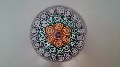Italian Early Murano Millefiori Art Glass Paperweight