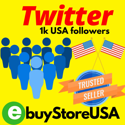 1000 Twitter-Followers-USA & MIXED People-NoN-Drop | High Quality instant