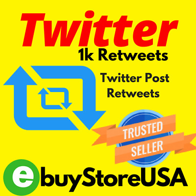 1000 Twitter Retweets-or-Likes-INSTANT DELIVERY