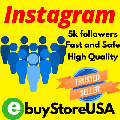 5K Instagram-Followers | Instant HQ | Normal Quality-60 days refill