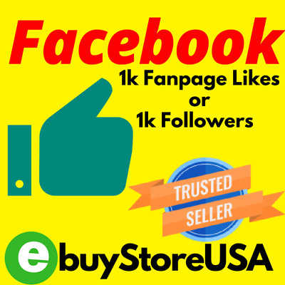 1k Facebook Page-Likes- page/post or 1000/followers